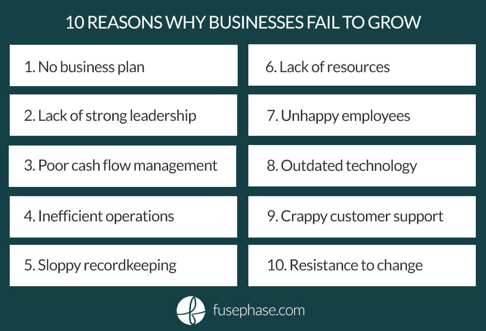 10 Reasons Why Businesses Fail to Grow_FusePhase
