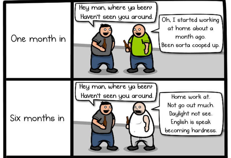 The Oatmeal Working from home cartoon