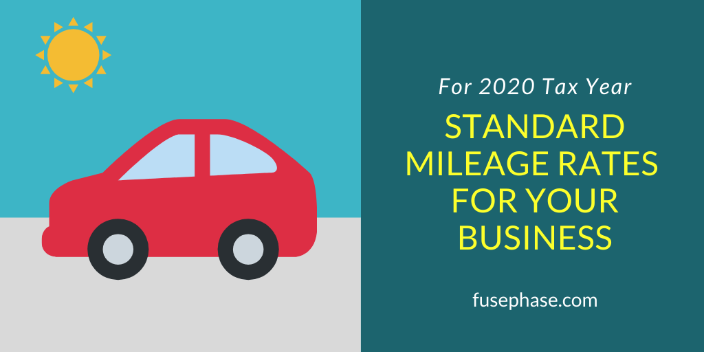 standard mileage rates for 2020
